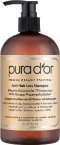 1. PURA D'OR Shampoo, Premium Organic