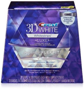 10. Crest 3d luxe whitestrips supreme flexfit teeth whitening