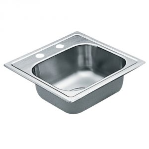 10. Moen G2245622 2200 Series 22 Gauge Single Bowl Drop In Sink