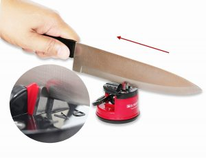 10. SunrisePro Knife Sharpener, USA patented, Original, Red