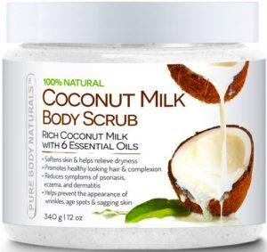 2. Pure Body Naturals Coconut Milk Body Scrub