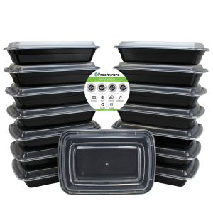3. Freshware 15-Pack 1 Compartment Bento Lunch Boxes