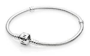 3. PANDORA, Silver Bracelet Snap Clasp