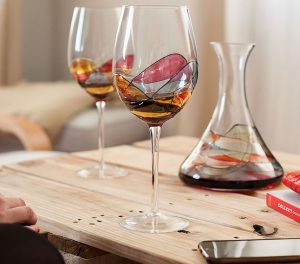 4. Antoni Barcelona, Hand Painted Large Wine Glass