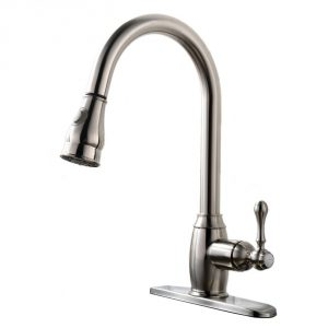 4. Vapsint Brushed Nickel Kitchen Faucet