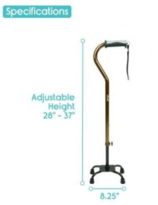 4.Vive Adjustable Quad Cane