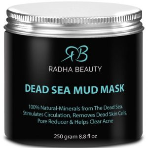 5. RADHA BEAUTY Dead Sea Mud Mask, 8.8 Oz