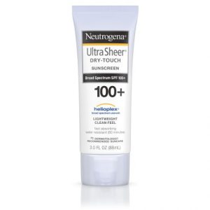 5.Neutrogena Ultra Sheer Dry-Touch Sunscreen Broad Spectrum SPF 100