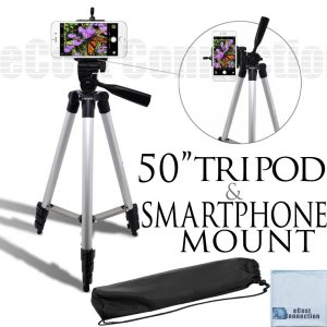 "5.eCostConnection 50"" Inch Aluminum Camera Tripod with Universal Smartphone Mount for ALL Smartphones"