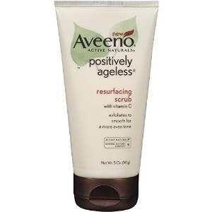 7. Aveeno Positively Ageless Resurfacing Scrub