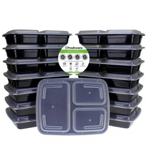 7. Freshware 15-Pack 3 Compartments