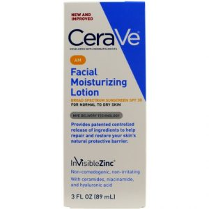 7.CeraVe Moisturizing Facial Lotion AM, SPF 30