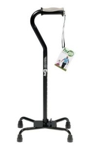 8.Hugo Mobility Adjustable Quad Cane for Both hands use – Ebony
