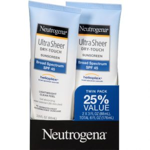 8.Neutrogena Ultra Sheer Dry-Touch Sunscreen Broad Spectrum