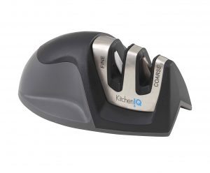 9. KitchenIQ 50009 Edge Grip 2 Stage Knife Sharpener, Black