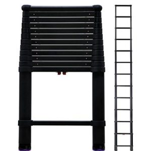 9. Telesteps 1600ET OSHA Compliant 16 ft Reach Black Tactical Telescoping Extension Ladder