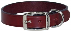 10. Hamilton LM1 14BK Creased Black Leather Dog Collar