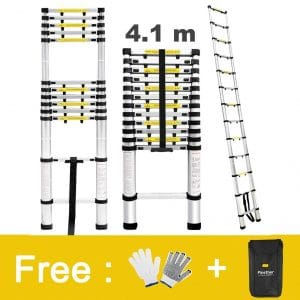 3. Finether, 13.5ft Aluminum Telescopic Extension Ladder