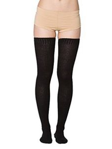 4-american-apparel-women-cotton-solid-thigh-high-socks