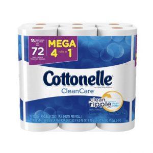 4-cottonelle-cleancare-mega-roll-toilet-paper