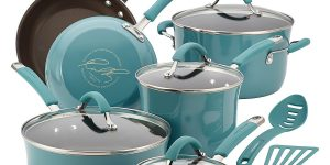 Rachael Ray, Cucina Hard Porcelain Enamel Nonstick Cookware Set