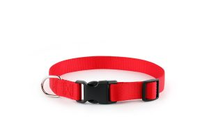 7. Sofi's Pet Supply, Sofi's Red Nylon Adjustable Dog Collar