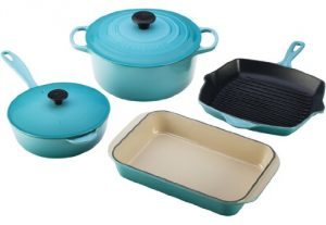 8. Le Creuset Enameled 6-Piece Set