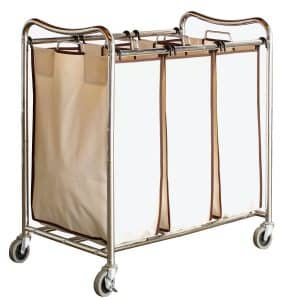 2-decobros-heavy-duty-3-bag-laundry-sorter-cart