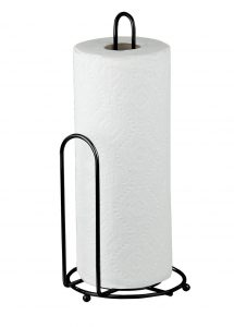 5-home-basics-black-paper-towel-holder