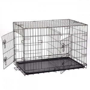 5-best-pet-2-door-pet-wire-cage-with-abs-pan