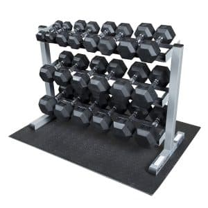 6-body-solid-dumbbell-rack-with-rubber-dumbbells