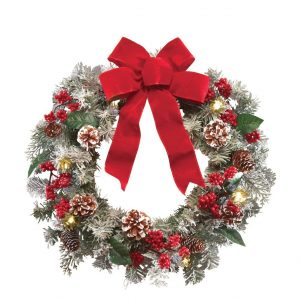 8-collections-etc-lighted-holiday-frosted-pine-wreath