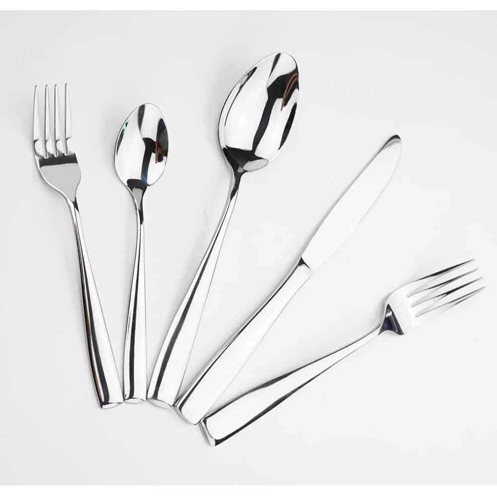 top 10 best stainless steel flatware sets in 2018 topreviewproducts. Black Bedroom Furniture Sets. Home Design Ideas