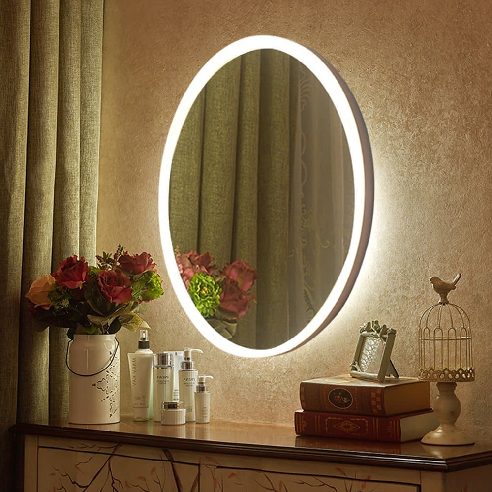 top 10 best led lighted vanity mirrors in 2017 topreviewproducts. Black Bedroom Furniture Sets. Home Design Ideas