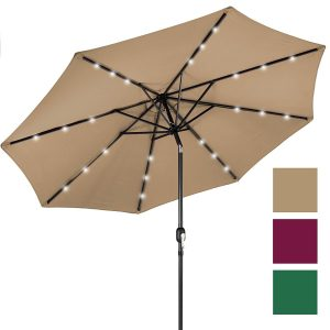 Best Choice Products, Deluxe Solar LED Lighted Patio Umbrella
