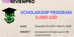 TopReviewPro Scholarship Program 2018