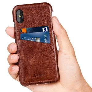 1. Benuo, Genuine Leather iPhone X Case