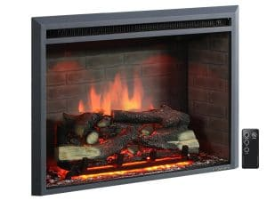 3. PuraFlame, Western Electric Fireplace Insert with Remote Control (33 Inches)