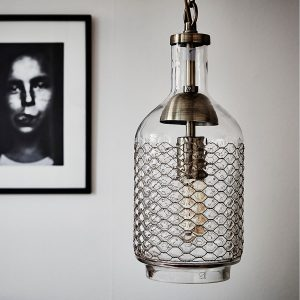 2. CASAMOTION, Industrial Edison Vintage Hand Blown Glass Pendant Light