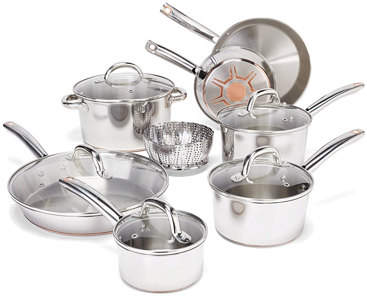 top 10 best stainless steel cookware sets in 2018 buying guide topreviewproducts. Black Bedroom Furniture Sets. Home Design Ideas