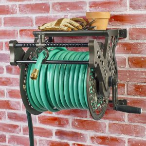 liberty garden products 707 decorative wall mount garden hose reel - Wall Mount Garden Hose Reel