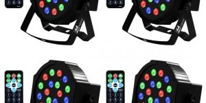 Missyee, Sound Activated Uplighting 18 LEDs RGB Color Stage Lighting