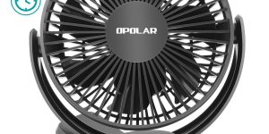 OPOLAR, 2 in 1 Rechargeable Battery Clip & Desk Fan