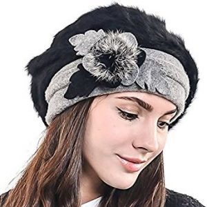 ceda1e3946f065 F&N STORY, Lady French Beret Wool Beret Chic Beanie Winter Hat